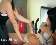 Two Charming Amazing Lesbians Using Strap - scene 4