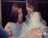 Young Lezzs Enjoying Sex With Dildo - scene 2