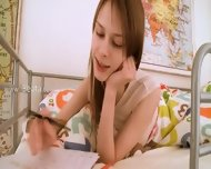 Teen Teenie Doing Pussy Homework - scene 1