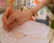 Teen Teenie Doing Pussy Homework - scene 3