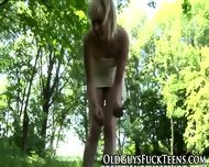 Outdoor Teen Swallows Old - scene 1