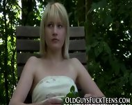 Outdoor Teen Swallows Old - scene 3