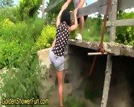 Outdoor Ho Golden Shower - scene 2