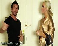 Blonde Wam Babe Sprayed - scene 2