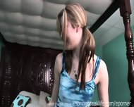 Up The Skirt Cutie Changes Clothes - scene 8