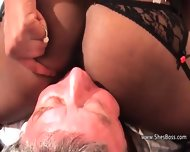 Black Milf Insists The Old Guy Lick Her Shaved Pussy And Asshole - scene 9