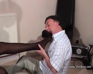 Black Milf Insists The Old Guy Lick Her Shaved Pussy And Asshole - scene 3