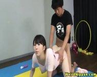 Flexible Asian Milf Fucked In The Gym - scene 12