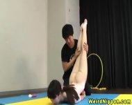 Flexible Asian Milf Fucked In The Gym - scene 3