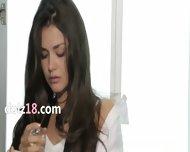 Brunette 19yo Girl Copulated In Sensitive - scene 1