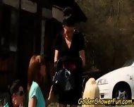 Outdoor Pissing Lesbians - scene 4