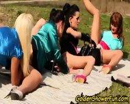 Outdoor Pissing Lesbians - scene 6