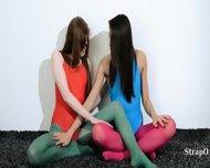 Hairy Girl4girl In Nylon Pants Loving - scene 2