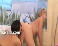Exclusive Lezz Love In The Shower - scene 9