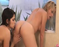 Exclusive Lezz Love In The Shower - scene 11