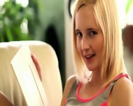 Blond Masturbation In The Livingroom - scene 3