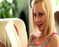 Blond Masturbation In The Livingroom - scene 3