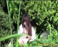 Asian Teen Parkbench Pee - scene 9
