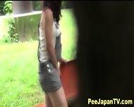 Asian Teen Parkbench Pee - scene 2