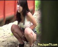 Asian Teen Parkbench Pee - scene 3