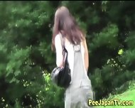 Asian Teen Parkbench Pee - scene 6