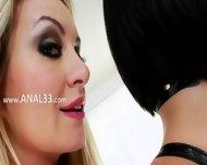 Luxury Hairy Analhole Threesome - scene 1