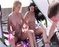 Amateurs Banging At Beach Party In A Tent - scene 2