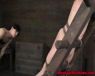 Bdsm Submissive Spanked Red Raw - scene 6