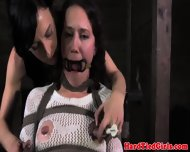 Chair Bondage Subs Nips And Pussy Clamp - scene 4