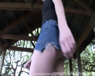 Cute Teen Gets Naked Outdoors - scene 7