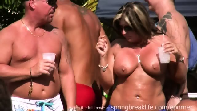 Topless Pool Party