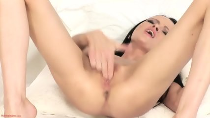 Skinny Brunette In Solo Action - scene 12