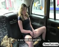 Busty Amateur Blonde Girl Pussy Nailed For A Free Fare - scene 3