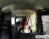 Busty Amateur Blonde Girl Pussy Nailed For A Free Fare - scene 7