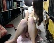 Sexy College Babe Masturbates In Library - scene 11