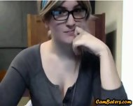 Nerdy Blonde Babe Flashes In Library - scene 5