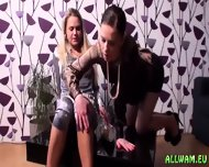 Exciting Fully Clothed Oil Rubbing - scene 1