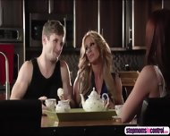 Stepmom Joins Sex Session As Her Stepson Bangs Her Horny Bestfriend - scene 3