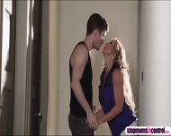 Stepmom Joins Sex Session As Her Stepson Bangs Her Horny Bestfriend - scene 5