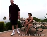 Submissive Perv Pleases The Coochie Of Beautiful Bodybuilder - scene 3