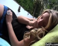Private Pool Party With My Stepsister In Afternoon - scene 1