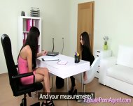 Shy Girl In First Lesbian Casting - scene 1