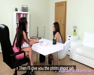 Shy Girl In First Lesbian Casting - scene 8