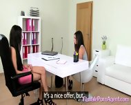 Shy Girl In First Lesbian Casting - scene 10