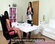 Shy Girl In First Lesbian Casting - scene 2