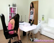 Shy Girl In First Lesbian Casting - scene 4