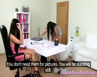 Shy Girl In First Lesbian Casting - scene 6