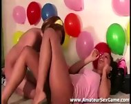 Balloon Game For Group Of Amateurs At Party - scene 8