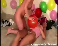 Balloon Game For Group Of Amateurs At Party - scene 10