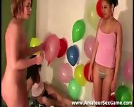 Balloon Game For Group Of Amateurs At Party - scene 2